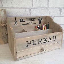 Wooden Post Letter Rack Desk Bureau Stationary Organiser Storage Vintage Style