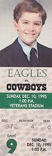 1995 Cowboys v Eagles Ticket 12/10/95 Dallas Season Champs 32433