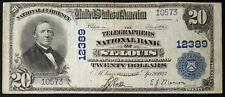 1902 $20.00 Dollars Nat'l Currency, The Telegraphers National Bank of St. Louis!