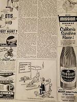 1952 Mission beverage orange soda California Sunshine flavor original ad