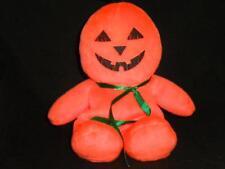 "Halloween Pumpkin Face Bean Bag  8"" Orange Black Plush Stuffed Animal Lovey Toy"