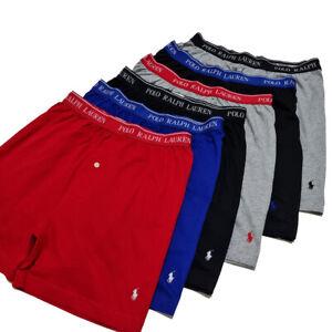 Ralph Lauren Classic Fit Knit Boxers Underwear Moisture Wicking S Twin Pack