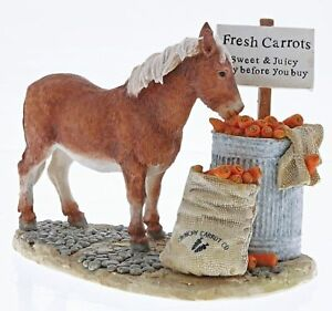 Kitchy & Co Donkey Figurine Crunchy Carrots Border Fine Arts Approx 11.5cm High