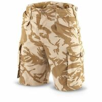 BRITISH ARMY DESERT COMBAT SHORTS - GRADE 1 USED CONDITION - ALL SIZES
