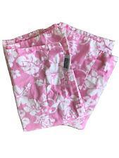 Dean Miller 2 Standard Pillow Shams - PINK hibiscus Flower