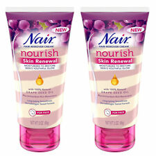 Pack of (2) New Nair Hair Remover Nourish Skin Renewal Face 3 Ounce (88ml)