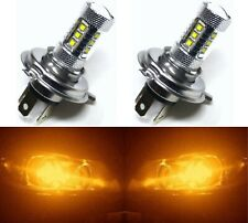 LED 80W 9003 HB2 H4 Orange Amber Two Bulbs Head Light Replace Motorcycle