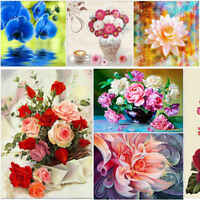 Flower DIY 5D Diamond Painting Embroidery Rose Cross Craft Stitch Kit Home Décor