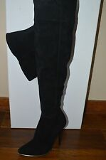 NIB BALMAIN Womens CATHERINE Black Suede Over the Knee Boots Size 7.5 EUR 37.5