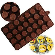 Silicone Emoji Expression Cake Chocolate Candy Fondant Ice Soap Tray Mold Mould