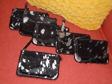 Urban Outfitters Deena & Ozzy Smyth Black w/ Silver Calf Hair Phone Wallet New