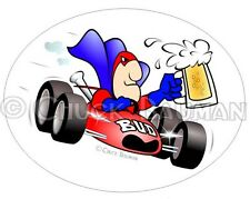 Bud Man INDY CAR RACING beer art sticker decal bud-man biplane airplane