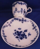 Antique 19thC KPM Berlin Porcelain Strawflower Cup & Saucer Porzellan Tasse