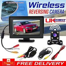 "Wireless Car Reversing Camera Kit Rear View LCD Monitor 4.3"" +HD Night Vision"