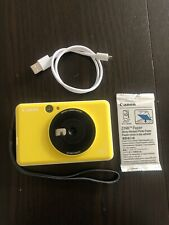 Canon Inspic C Instant Camera - Bumblebee Yellow With Zink Photo Paper & Charger