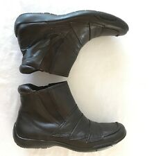 0faf7b360298d Ros Hommerson Womens Leather Ankle Boot Brown Claire Square Toe Fashion Sz  9M