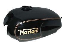 NORTON Roadster Commando Gaz Réservoir De Carburant En Acier Noir Peint Doré Rayures