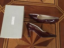 BNIBMade in Italy Pancaldi leather womens shoes size 39.5EU burgundy medium heel