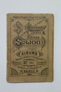 Antiguo Album  MAISON SAJOU Ouvrages de Dames, Francia Paris, Finales Siglo XIX.