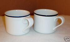 """Set of (2) Dansk """"Bistro Pattern""""  Cups - Made in Portugal-Int'l Design Ltd."""