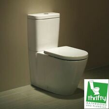 Fowler Seido Wall Faced Ceramic Toilet Suite White Back Inlet