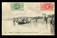 FRANCE COLONIES SENEGAL 1910 PPC FISHING BOAT