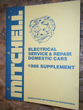 1986 MITCHELL DOMESTIC CAR ELECTRICAL SERVICE MANUAL MUSTANG CORVETTE  CHRYSLER