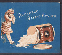 Patapsco Baking Powder Advertising Cry Girl Spilled Tin Can Victorian Trade Card