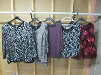 Lot of 5 Beautiful Designer Women's Tops! Size Large! Gently Owned!!