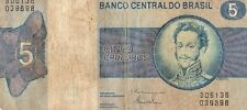 BRAZIL  1970-80 5 CRUZEIROS CURRENCY