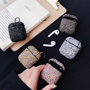 Bling Glitter Hard Cover Case For Apple AirPods 1 2 Charging Case Protective Box