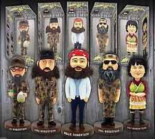 As Seen on TV Duck Dynasty Bobble-heads 5pc set Brand New in Original Boxes