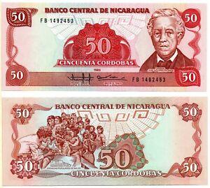 NICARAGUA 50 Cordobas (1985) Pick 153a UNC *RARE*