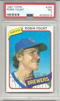 1980 Topps #265 ROBIN YOUNT , PSA 7 NM, HOF, MILWAUKEE BREWERS, L@@K !
