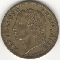 1945 C France 5 Francs Open '9' | Coins | European | Pennies2Pounds