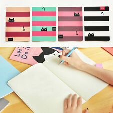 Cat Paper Blank Pages BIG Notebook Journal Diary Notepad Cute Note Book 1pc New