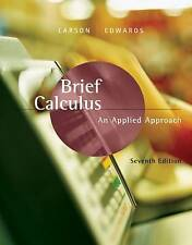 Brief Calculus: An Applied Approach by Ron Larson, Bruce Edwards (Hardback,...