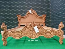 Super King size 6' DARK MAHOGANY Gothic designer Baroque french style Bedframe