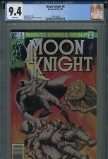 Moon Knight 6 CGC 9.4 Newsstand Norem Voodoo Doll cvr. White Sienkiewicz Avenger