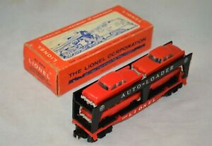 ORIGINAL LIONEL 6414 AUTO LOADER WITH RED AUTOS IN OB - NO RESERVE