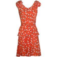 Gucci Orange Silk Floral Skirt Top and Belt Set Looks like Dress IT 40 4 S
