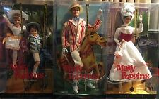 Mary Poppins- Barbie Dolls -Mary Poppins, Bert, Jane and Michael Pink Label 2007