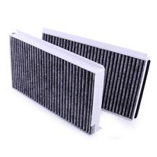 2× 31.2x17x3cm Carbon Cabin Fresh Air Filter Fit BMW 5 Series E60 E63 64 535i M5