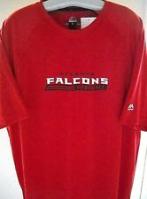 """ATLANTA FALCONS ADULT EXTRA-LARGE ( XL ) 2-SIDED T-SHIRT IN """"COOL BASE"""" MATERIAL"""