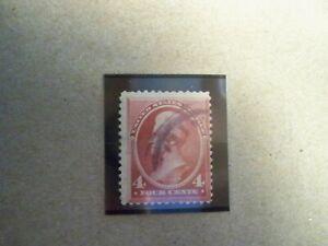 USA Used, 1888 Issue, 4 Cent Jackson, Carmine Perf. 12