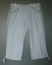 Nike Athletic Walking Running Cropped Pants Blue Womens Size L 12-14