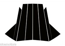 4D Carbon Fabric B & C Pillar Mask 8Pcs For Hyundai All New Tucson 2016