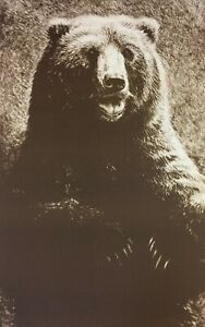 John Seerey-Lester - Grizzly - Signed Limited-Edition Lithograph- RARE - MINT