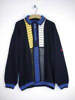 Carlo Colucci Sports Equipment Pullover Sweater Vintage Retro Herren Größe XXL