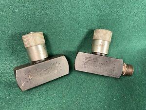 "Two Parker N600S 3/8"" NPT Parker Needle Valve Steel 8 GPM 5000 PSI"